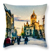 St Giles' Cathedral Throw Pillow