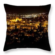 St Helena Cathedral And Helena By Night Throw Pillow by Dutch Bieber