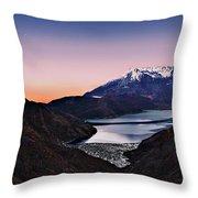 St Helens After Sunset Throw Pillow