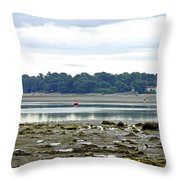 St Helens Beach To Bembridge Point Throw Pillow
