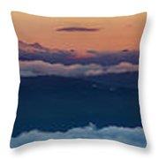 St. Helens, Ranier, Adams Throw Pillow