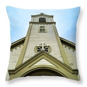 St. Ignatius Of Loyola Church And Cemetary Throw Pillow