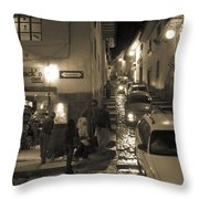 Jack's Cafe Throw Pillow