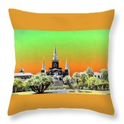 St. James Cathedral New Orleans Throw Pillow