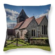 St James The Great Elmsted Throw Pillow