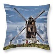St. Janshuis Windmill Throw Pillow
