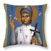St. Joan Of Arc - Rljoa Throw Pillow