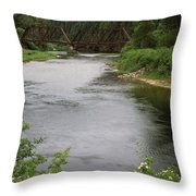 St Joe Bridge Throw Pillow
