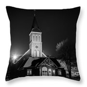St Joes Church Mandan 4 Throw Pillow
