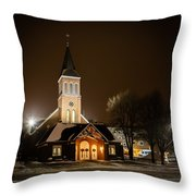 St Joes Church Mandan 6 Throw Pillow