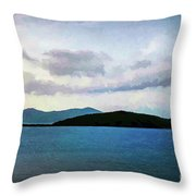 St John - Ocean Vista Throw Pillow