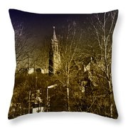 St. John The Baptist From The Rail Road Trestle In Manayunk Throw Pillow