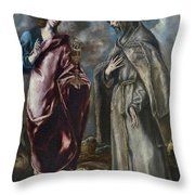 St. John The Evangelist And St. Francis Of Assisi Throw Pillow