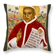 St. John Xxiii - Rlpjn Throw Pillow