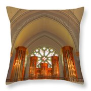 St. John's Cathedral Organ Throw Pillow