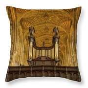 Kings College Chapel Throw Pillow