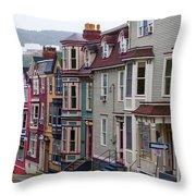 St Johns In Newfoundland Throw Pillow
