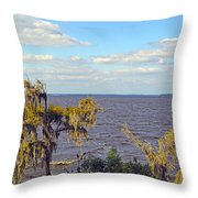 St. Johns River Meets The Ocean Throw Pillow