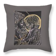 St. Joseph And The Child Jesus Throw Pillow