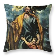 St Joseph And The Christ Child 1599 Throw Pillow