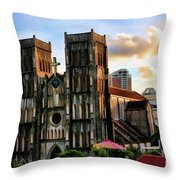 St. Joseph Cathedral Hanoi Vietnam   Throw Pillow