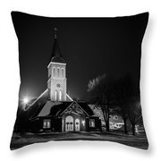 St Joseph Church Mandan Throw Pillow