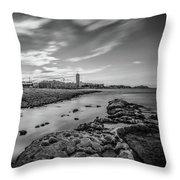 St. Julian's Bay View Throw Pillow by Okan YILMAZ