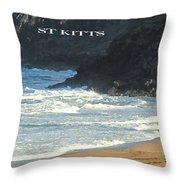 St Kitts Poster Throw Pillow