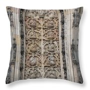 St. Lamberti Church - Stone Relief Throw Pillow
