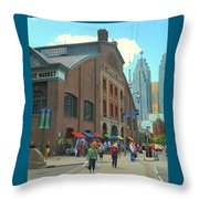 St Lawrence Market Throw Pillow
