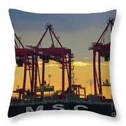 St Lawrence Sunset 2 Throw Pillow