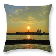 St Lawrence Sunset 3 Throw Pillow