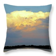 St Lawrence Sunset 4 Throw Pillow