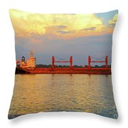 St Lawrence Sunset 5 Throw Pillow