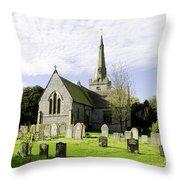 St Leonard's Church At Monyash Throw Pillow