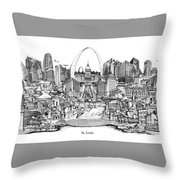 St. Louis 4 Throw Pillow