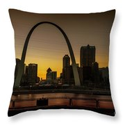 St Louis Arch At Sunset Throw Pillow