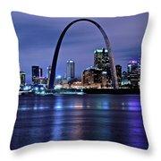 St Louis Black N Blue Throw Pillow