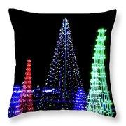St Louis Botanical Gardens Christmas Lights Study 4 Throw Pillow