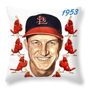 St. Louis Cardinals 1953 Yearbook Throw Pillow