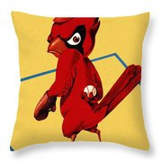 St. Louis Cardinals Vintage 1956 Program Throw Pillow