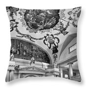 St. Louis Cathedral 2 Monochrome Throw Pillow