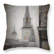 St. Louis Cathedral From Chartres St. - Nola Throw Pillow