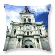 St. Louis Cathedral - Nola- Art Throw Pillow