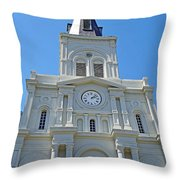 St. Louis Cathedral Study 1 Throw Pillow