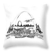 St. Louis Highlights Version 1 Throw Pillow