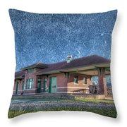 St Louis Iron Mountain Depot Throw Pillow