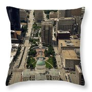 St. Louis Overview Throw Pillow