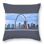 St Louis Panoramic View Throw Pillow