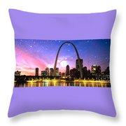 St Louis Skyline As Night Falls Throw Pillow